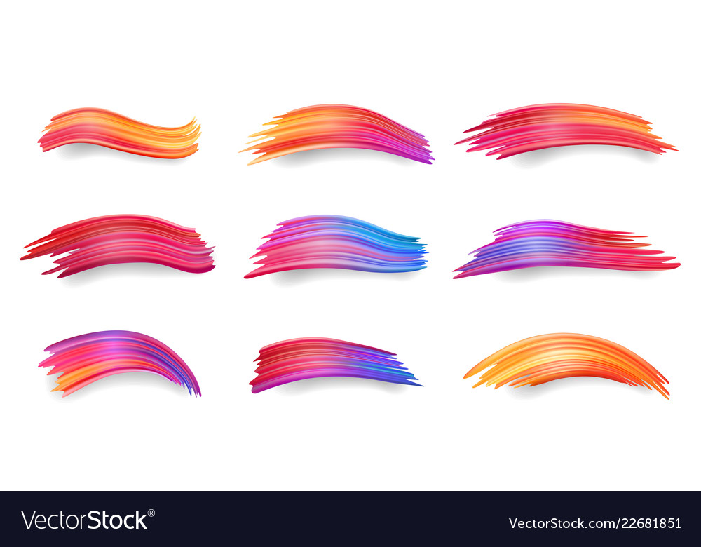 Gradient smears or colorful brushstrokes paint