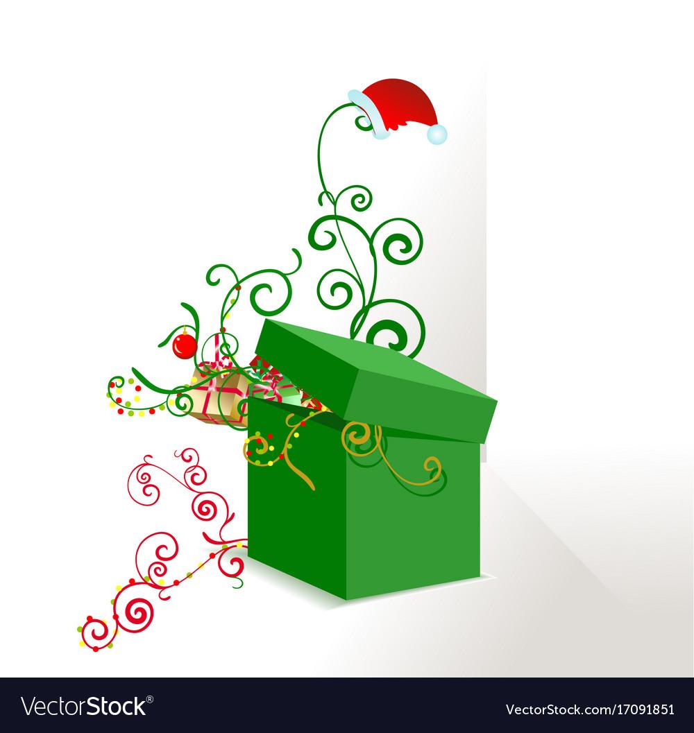 Green box ornate