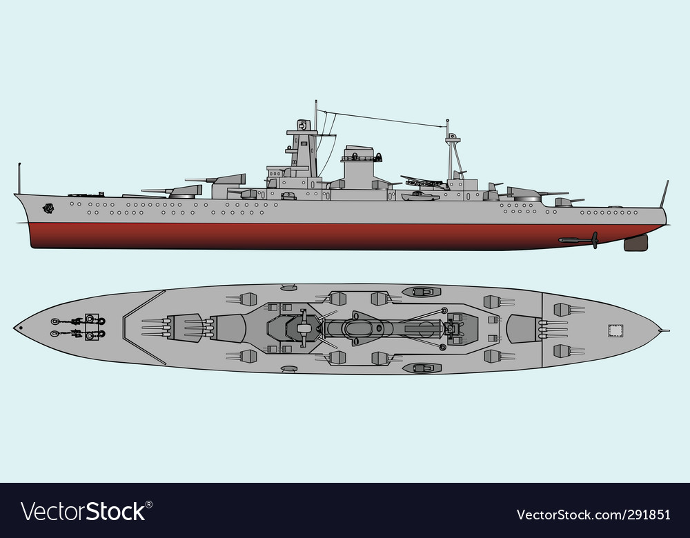 Military navy ships vector image