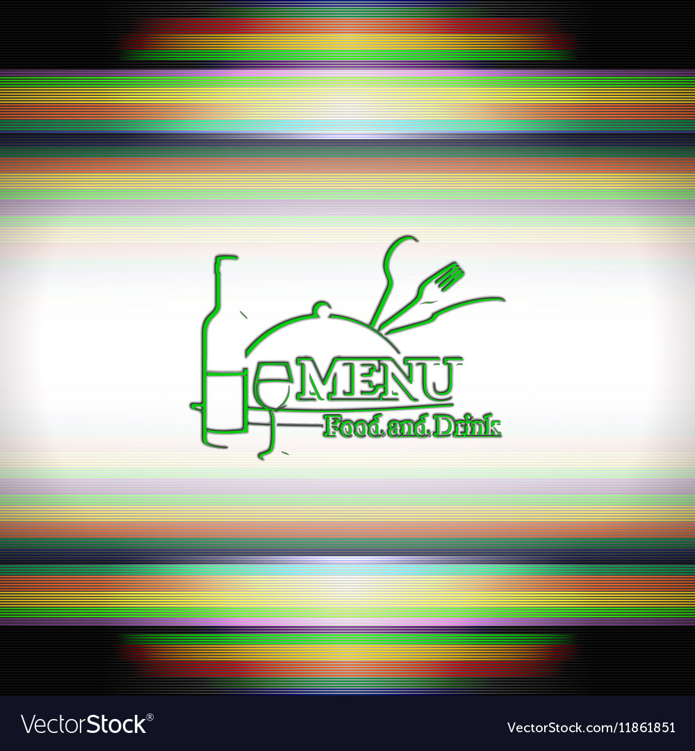 Restaurants or cover menu template outline logo