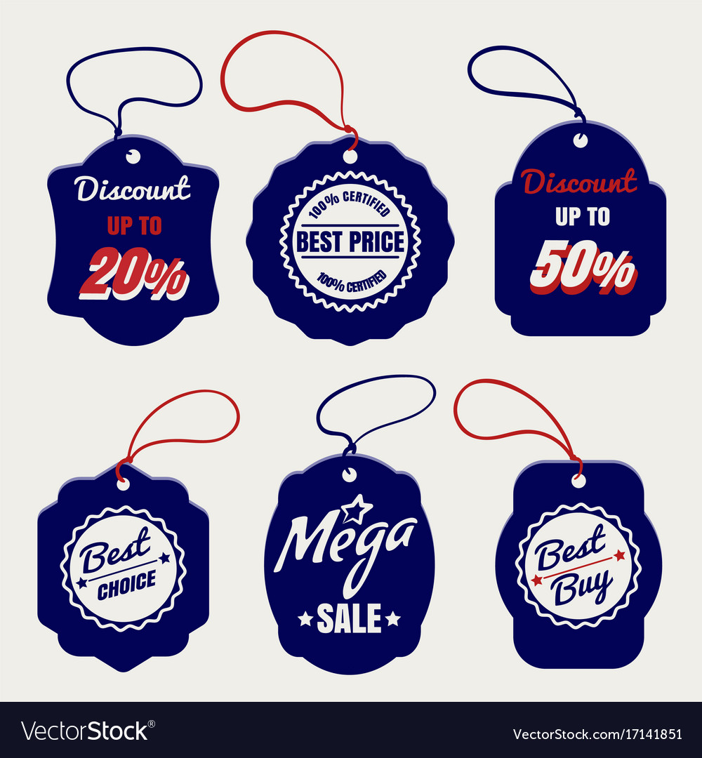 Sale and discount price labels