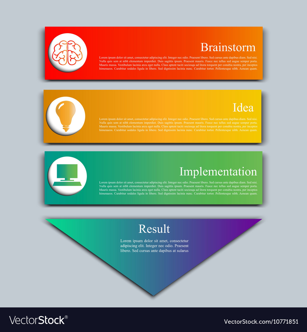 Stock set of infographics vector image