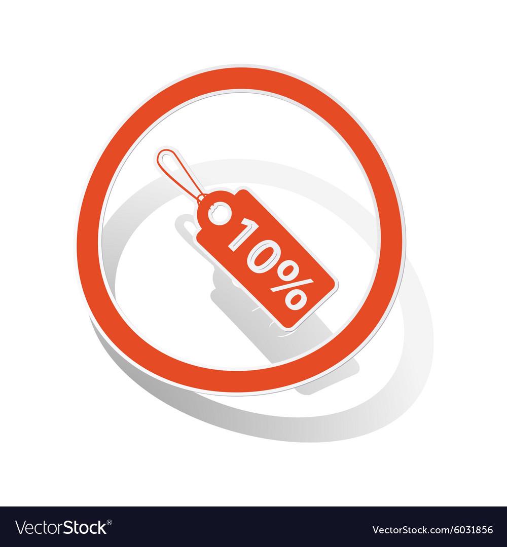 Discount sign sticker orange