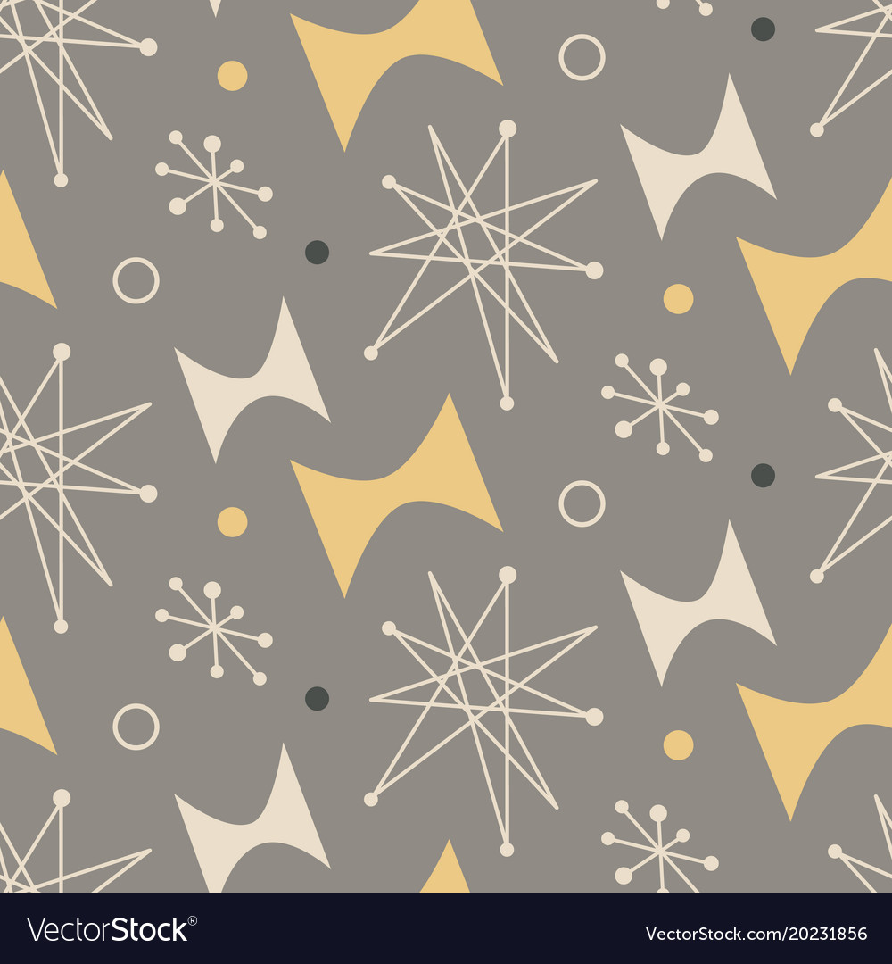 Mid Century Modern Seamless Pattern Royalty Free Vector