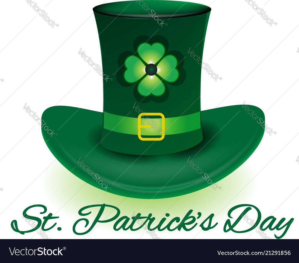 16b73267 St patrick day leprechaun hat Royalty Free Vector Image