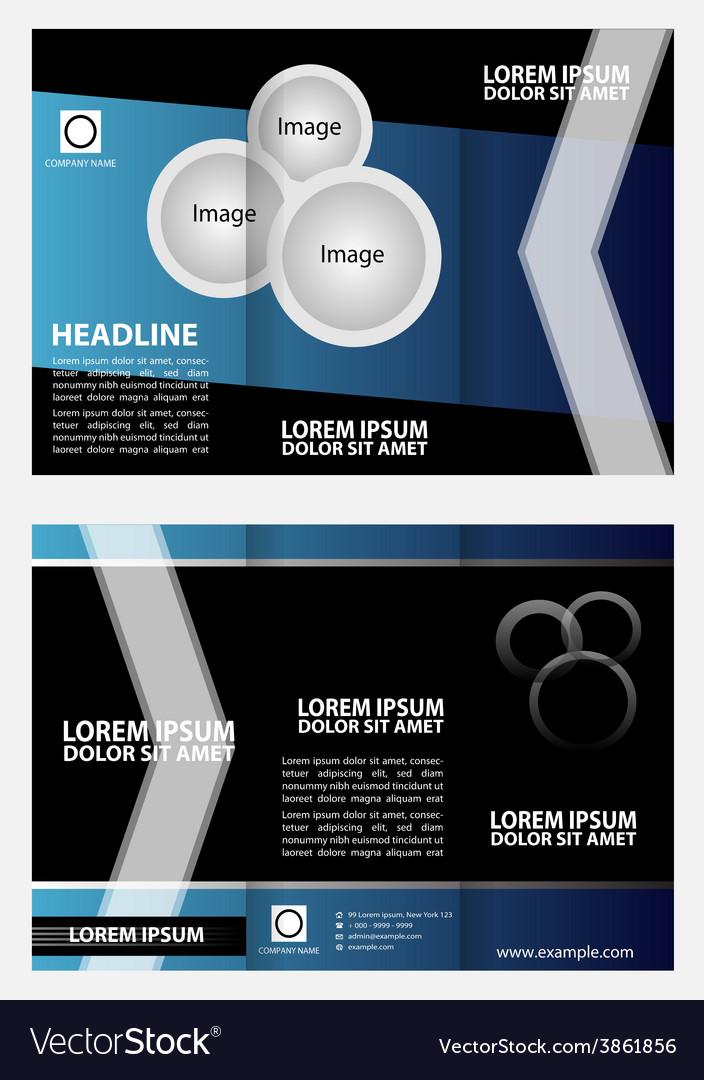 tri fold brochure layout