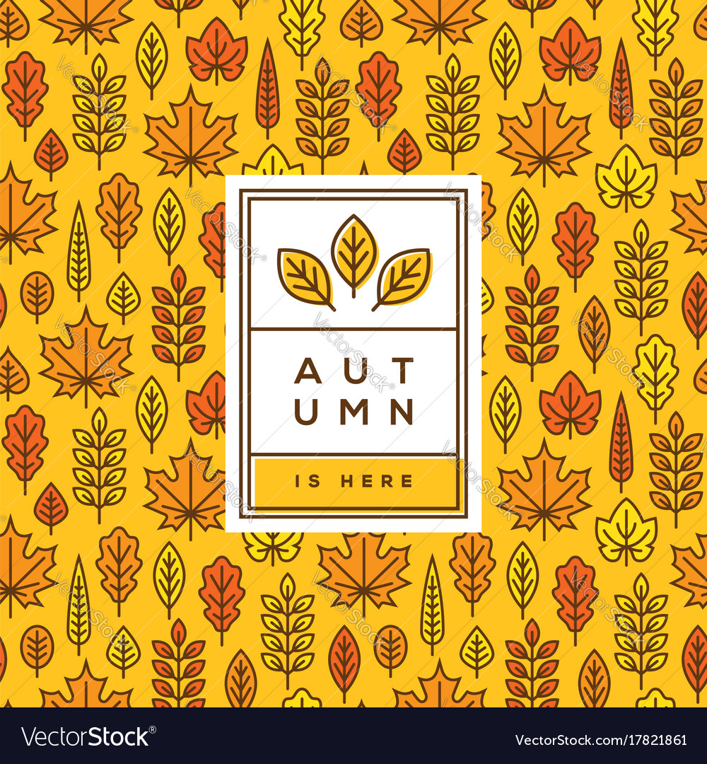 Bright autumn cover banner or poster design