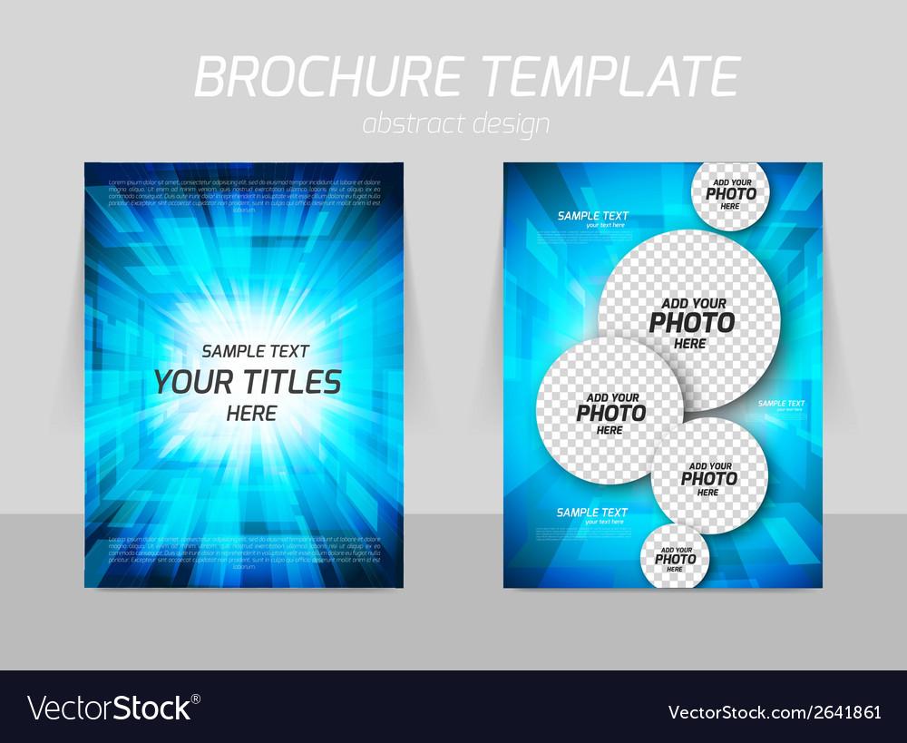 Bright flyer design