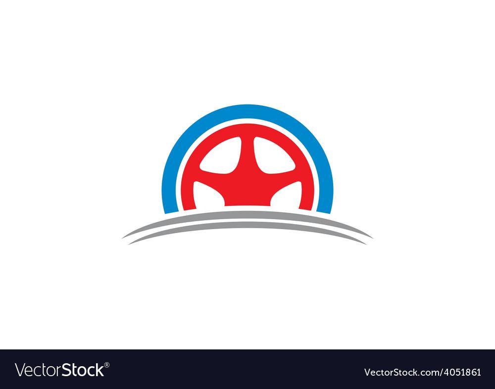Car tyre automotive logo