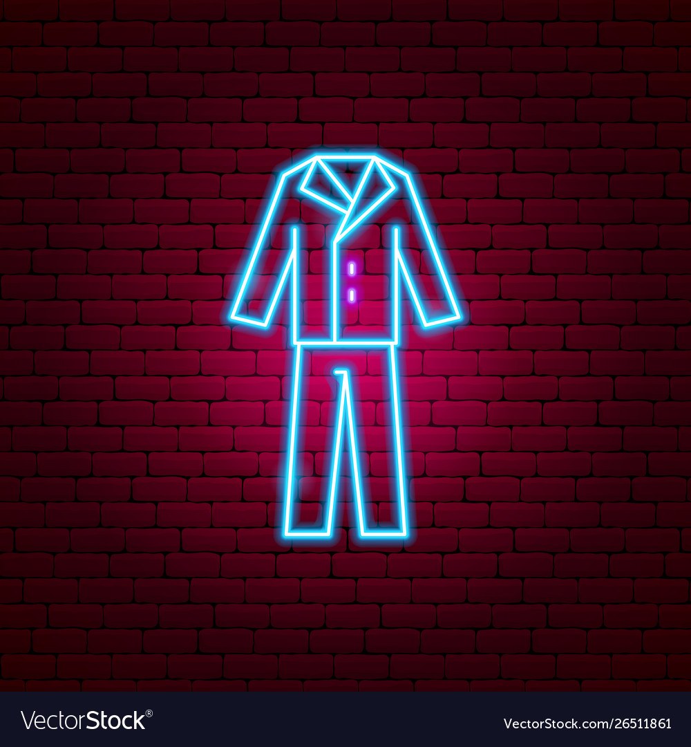 Groom suit neon sign