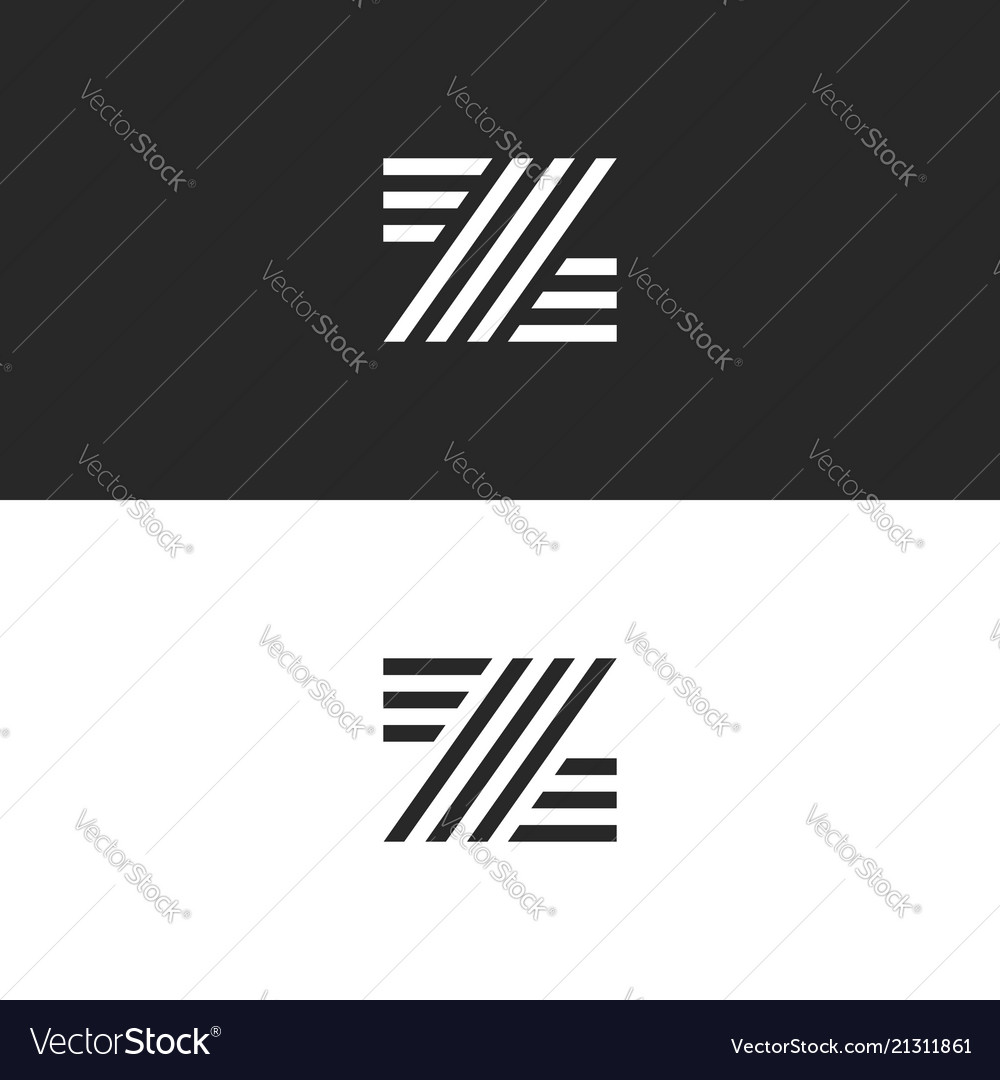 Logo z letter monogram minimal style hipster