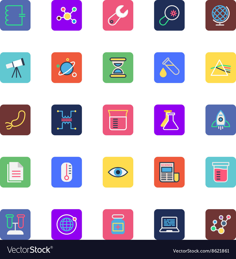 Science and Technology Colored Icons 2