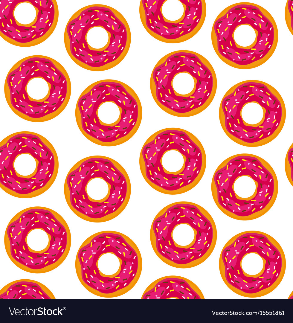 Seamless background donuts with pastry pads