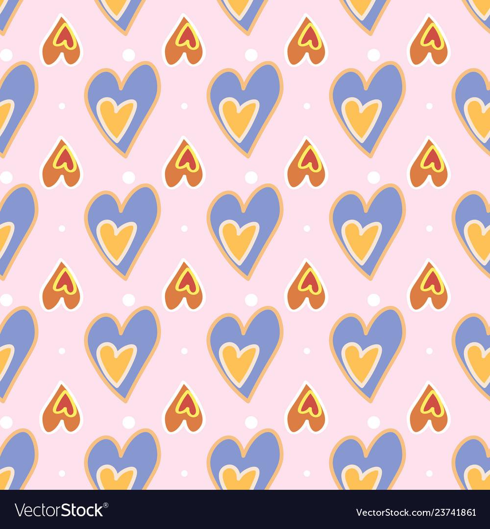 Seamless pattern love print decorative pattern