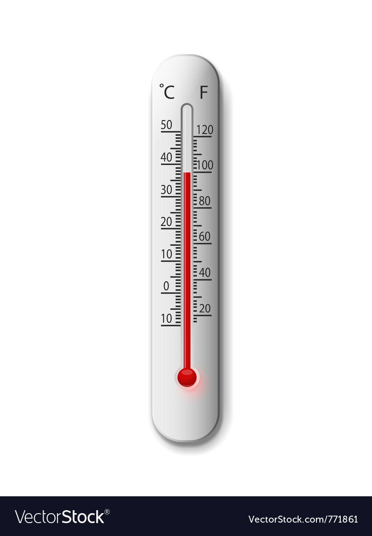 Thermometer on a white