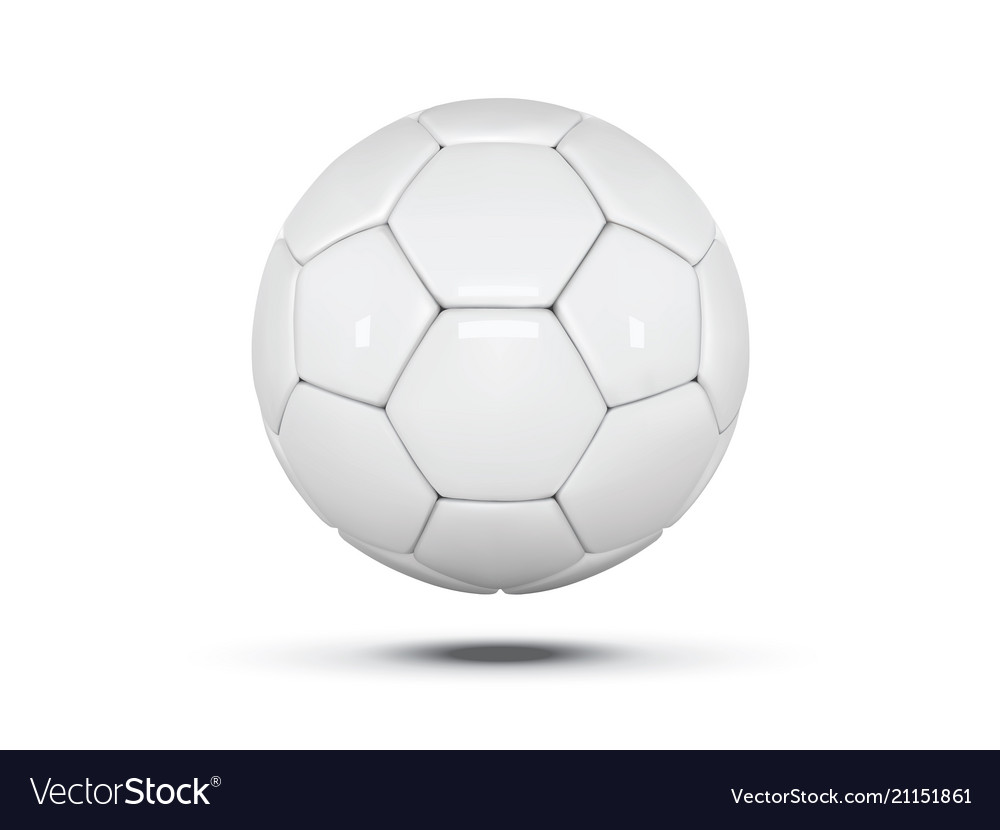 White leather ball soccer ball on white