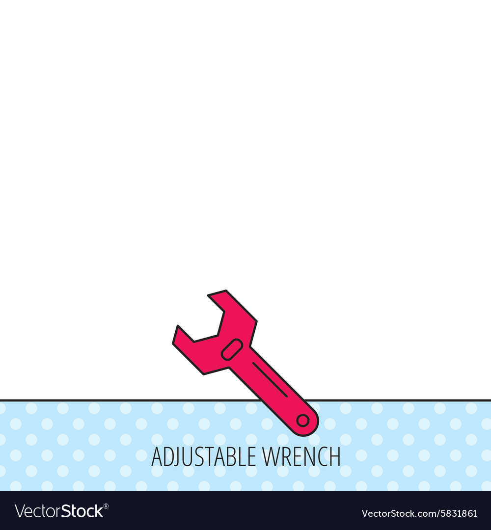 Wrench key icon Repair tool sign