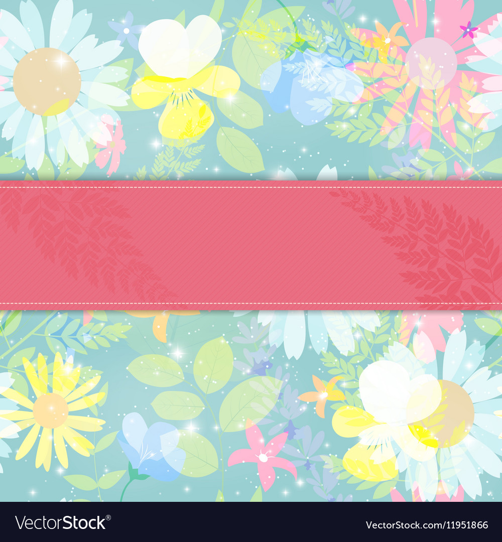 Abstract Natural Spring Background with Flowers