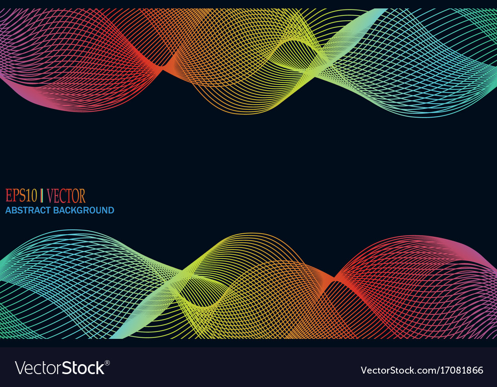 Abstract winding ribbon of the rainbow isolated