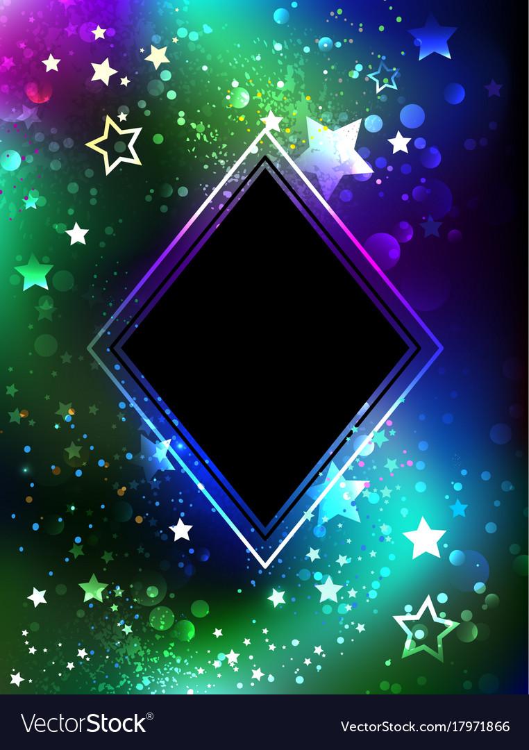 Black rhombus with northern lights