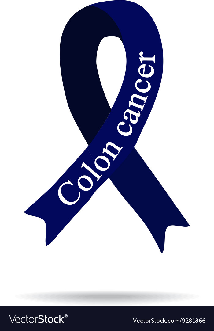 Cancer Ribbon Colon Cancer International Day Of Vector Image