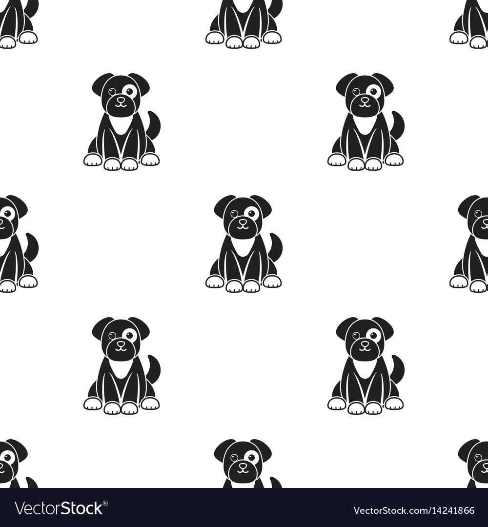 Dog icon in black style isolated on white