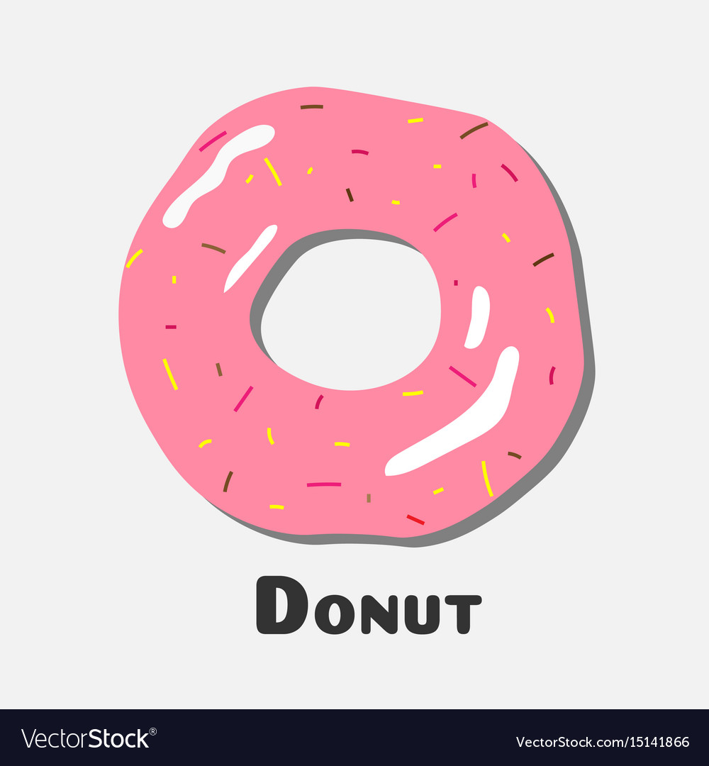 Donut with pink icing donut icon