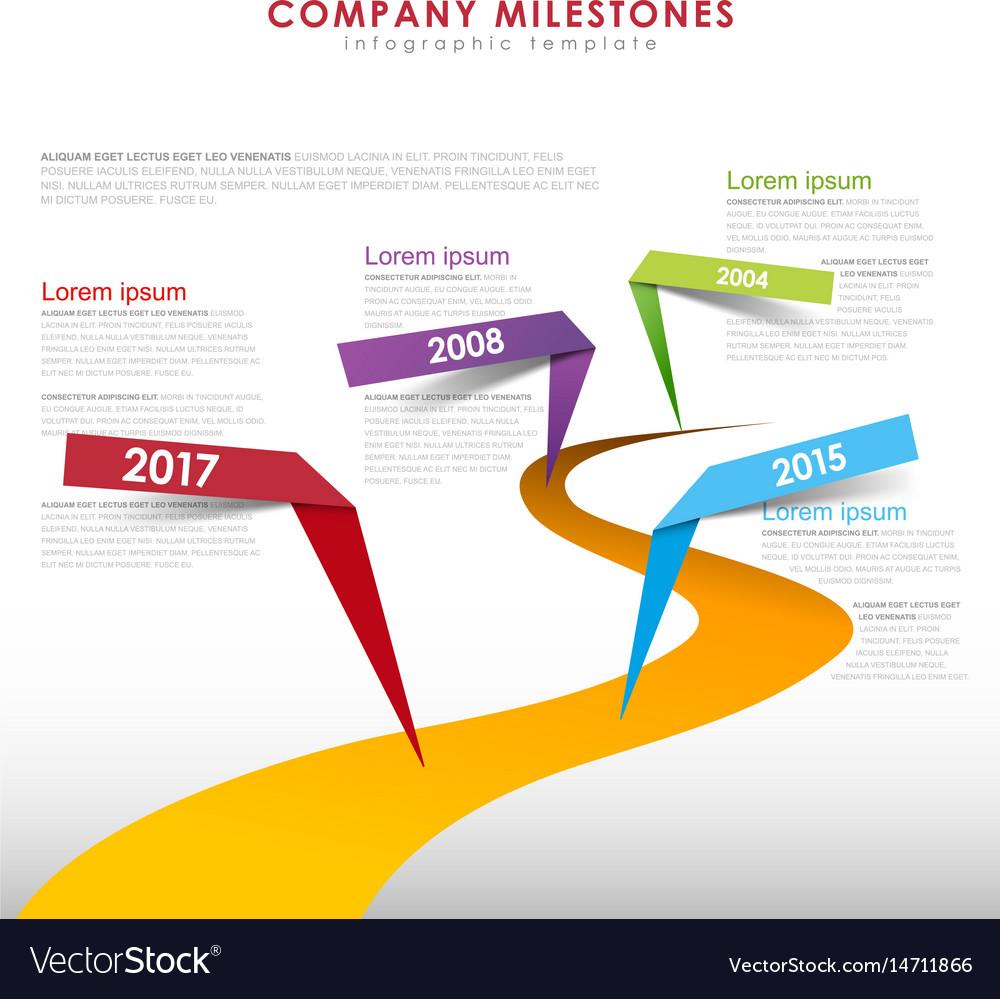 Infographic startup milestones timeline template vector image maxwellsz