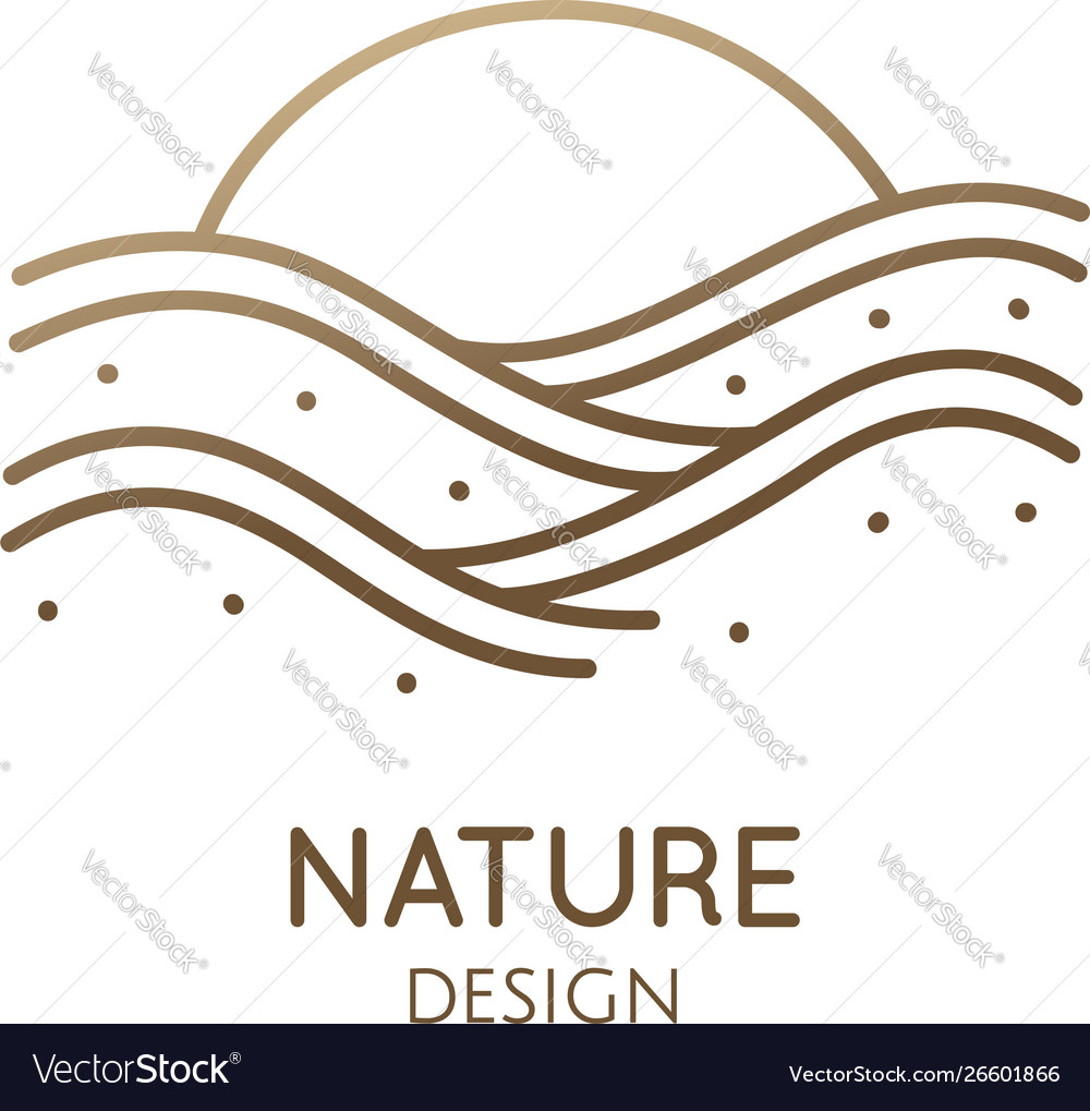 Linear logo sea waves