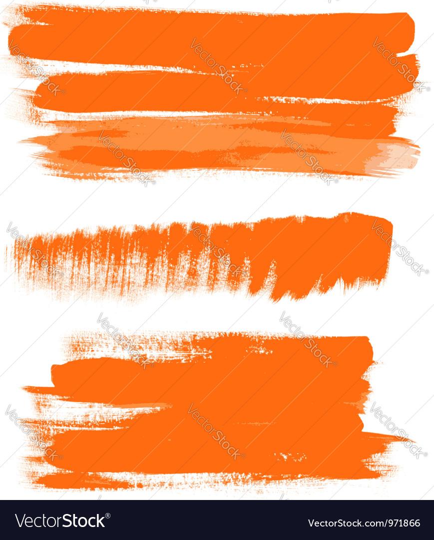 Orange gouache brush strokes the perfect backdrop vector image