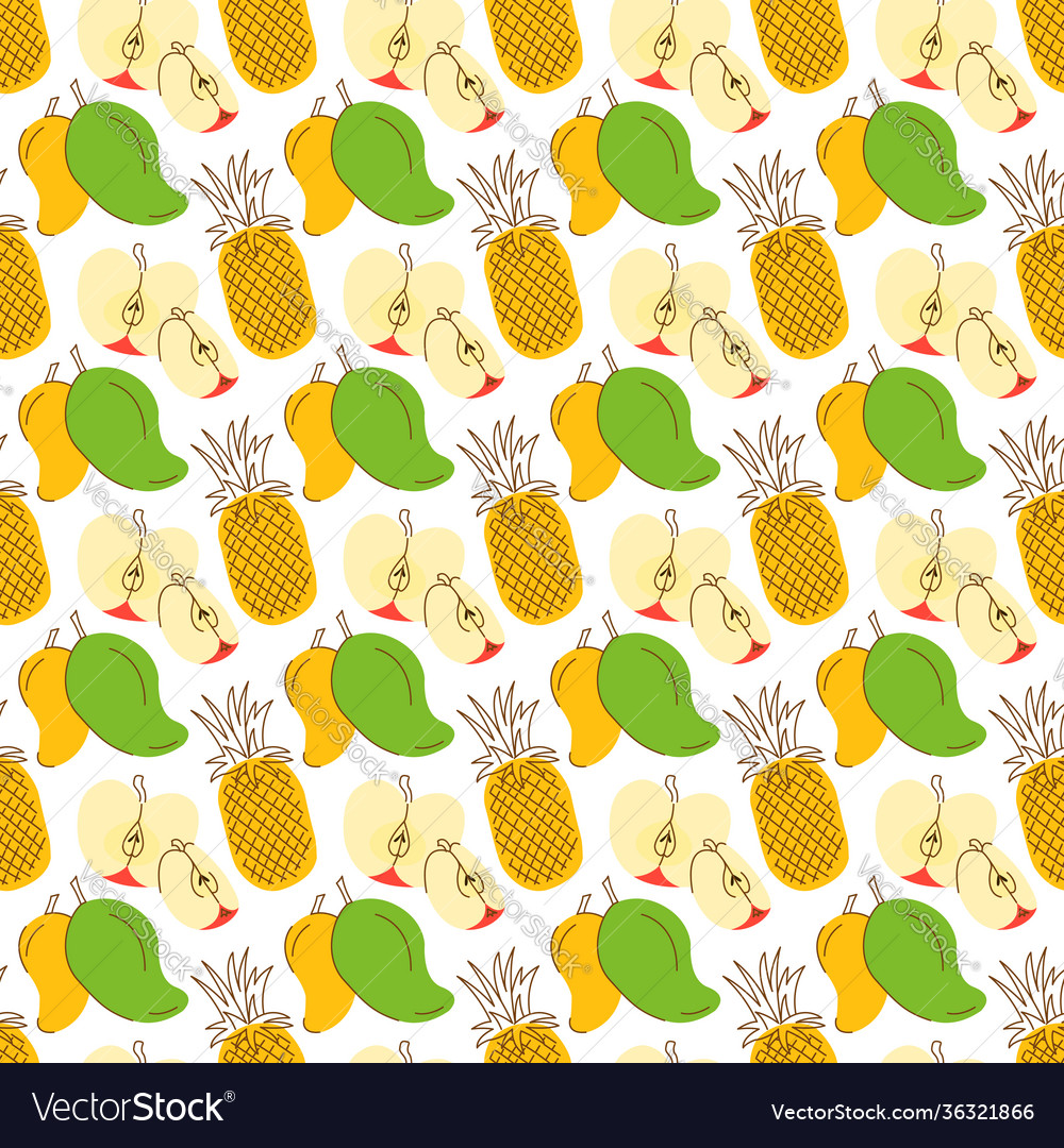 Pattern background with three element fruits