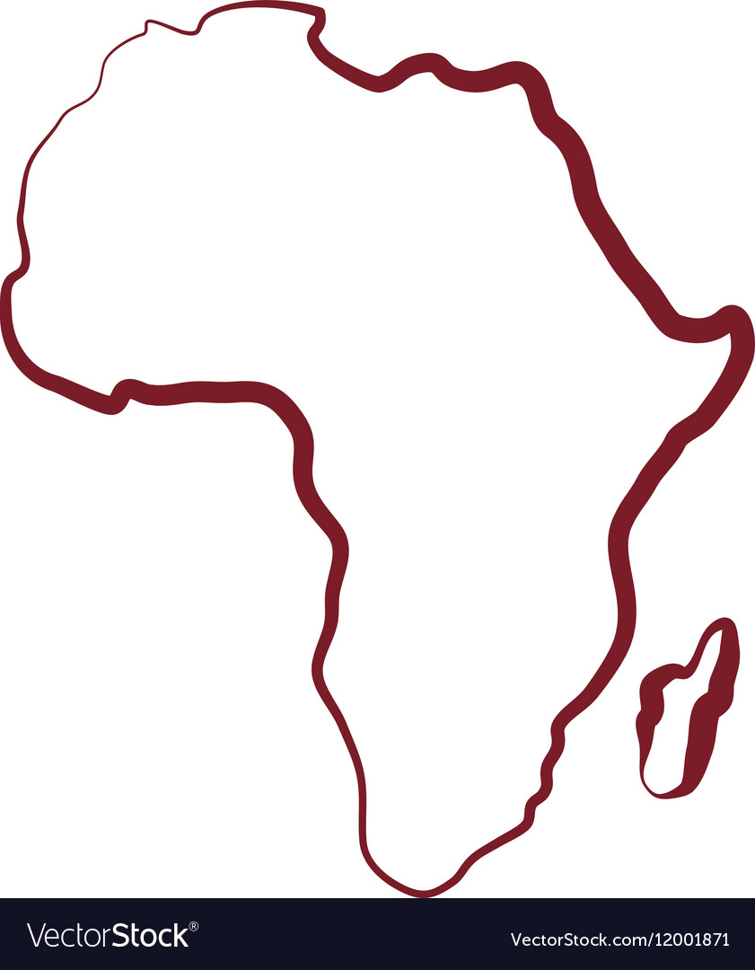 Africa map silhouette Royalty Free Vector Image