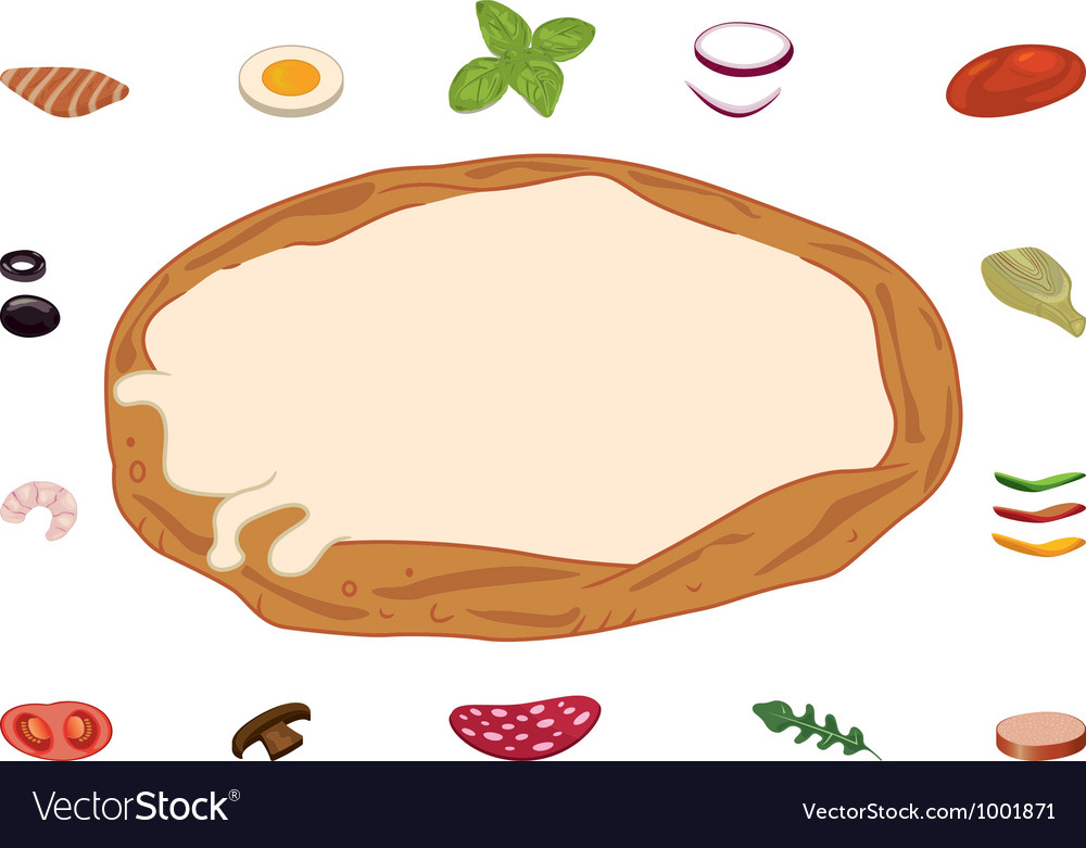 Build your pizza vector image