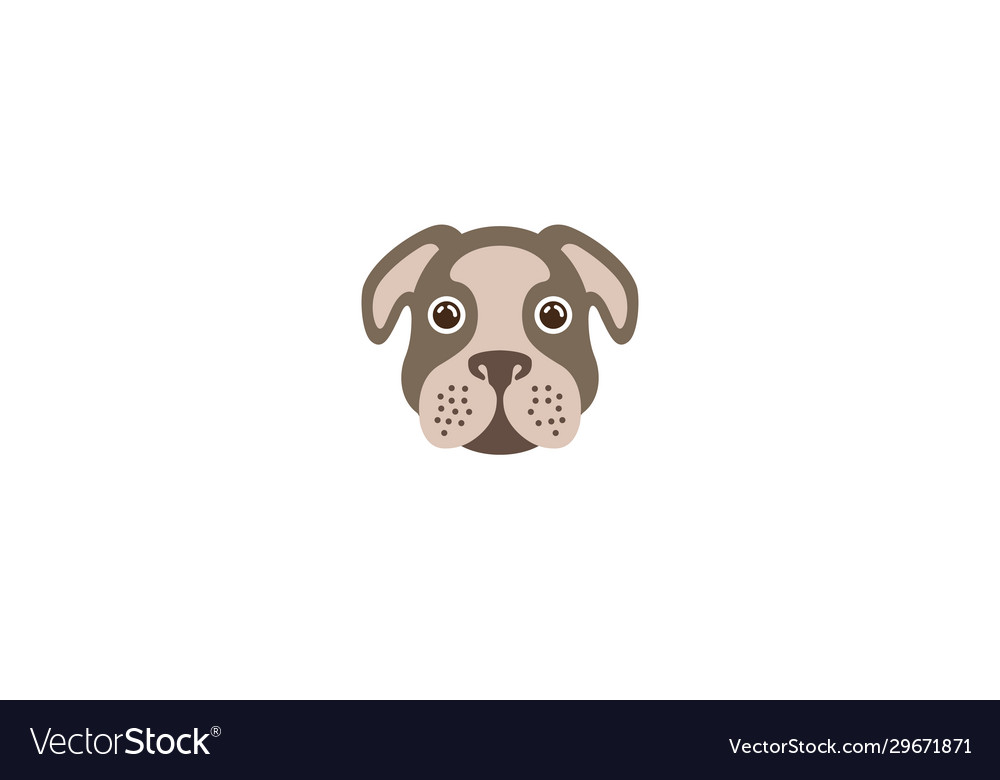 Creative brown bulldog head logo