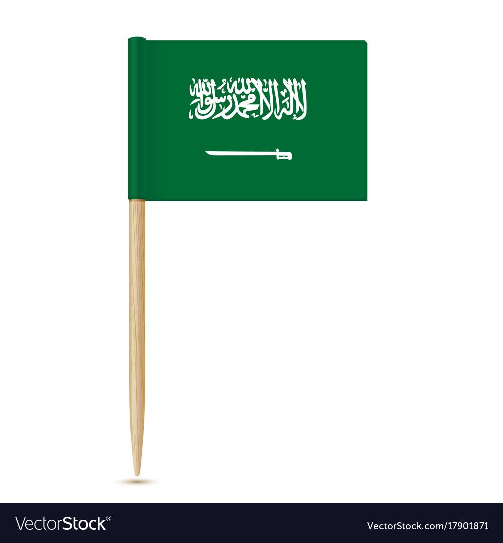 Flag of saudi arabia flag toothpick