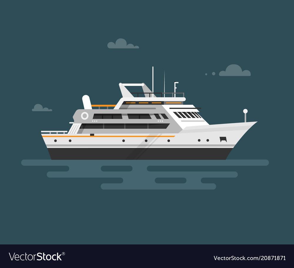 Flat motor yacht boat