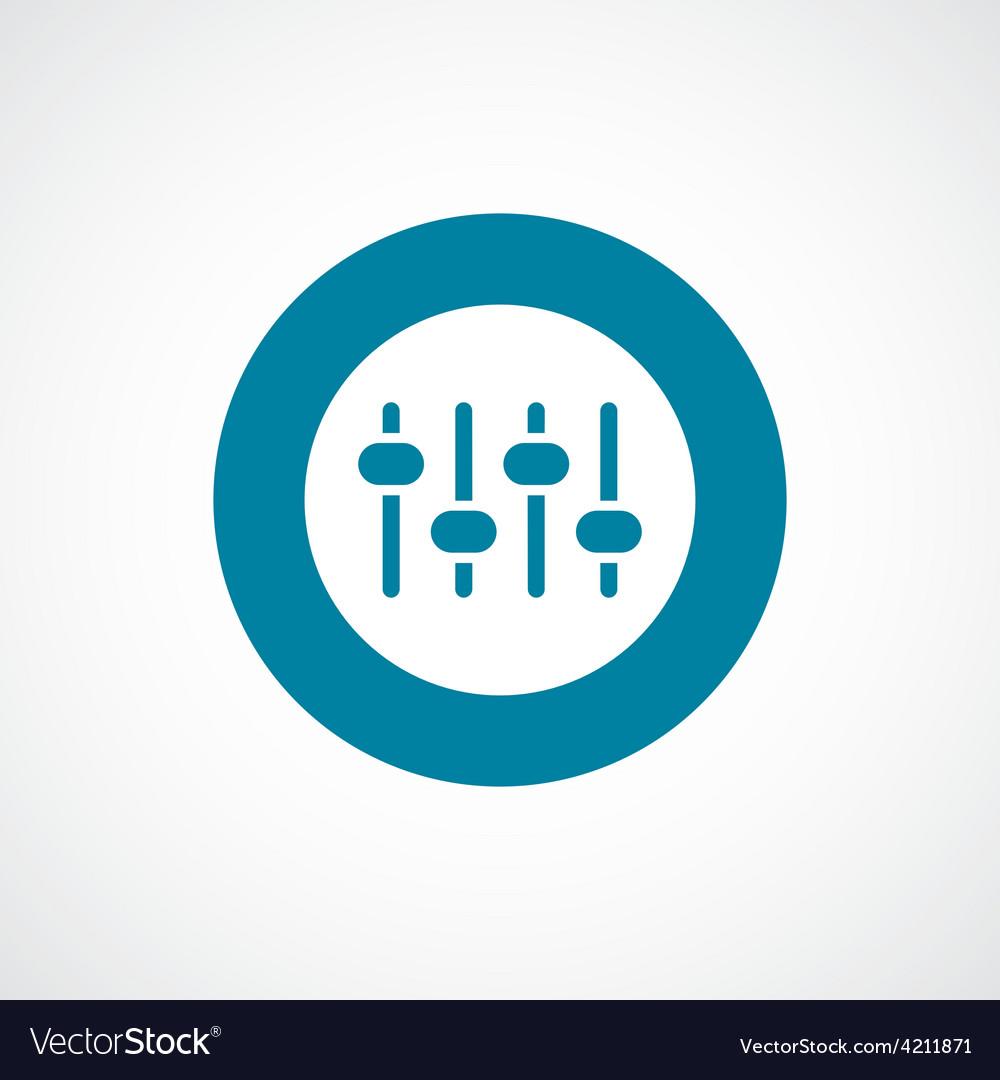 Sound mixer icon bold blue circle border vector image