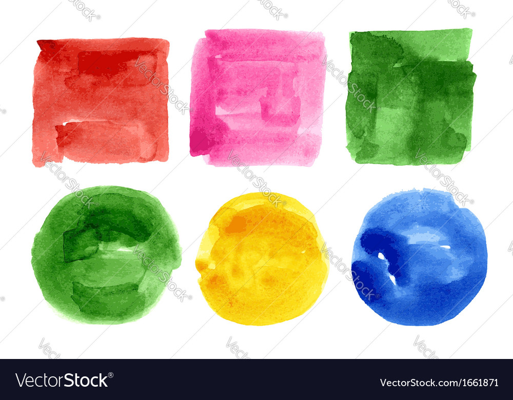 Watercolor design elements vector image