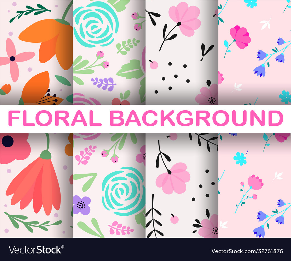 4 light seamless background set trendy colorful