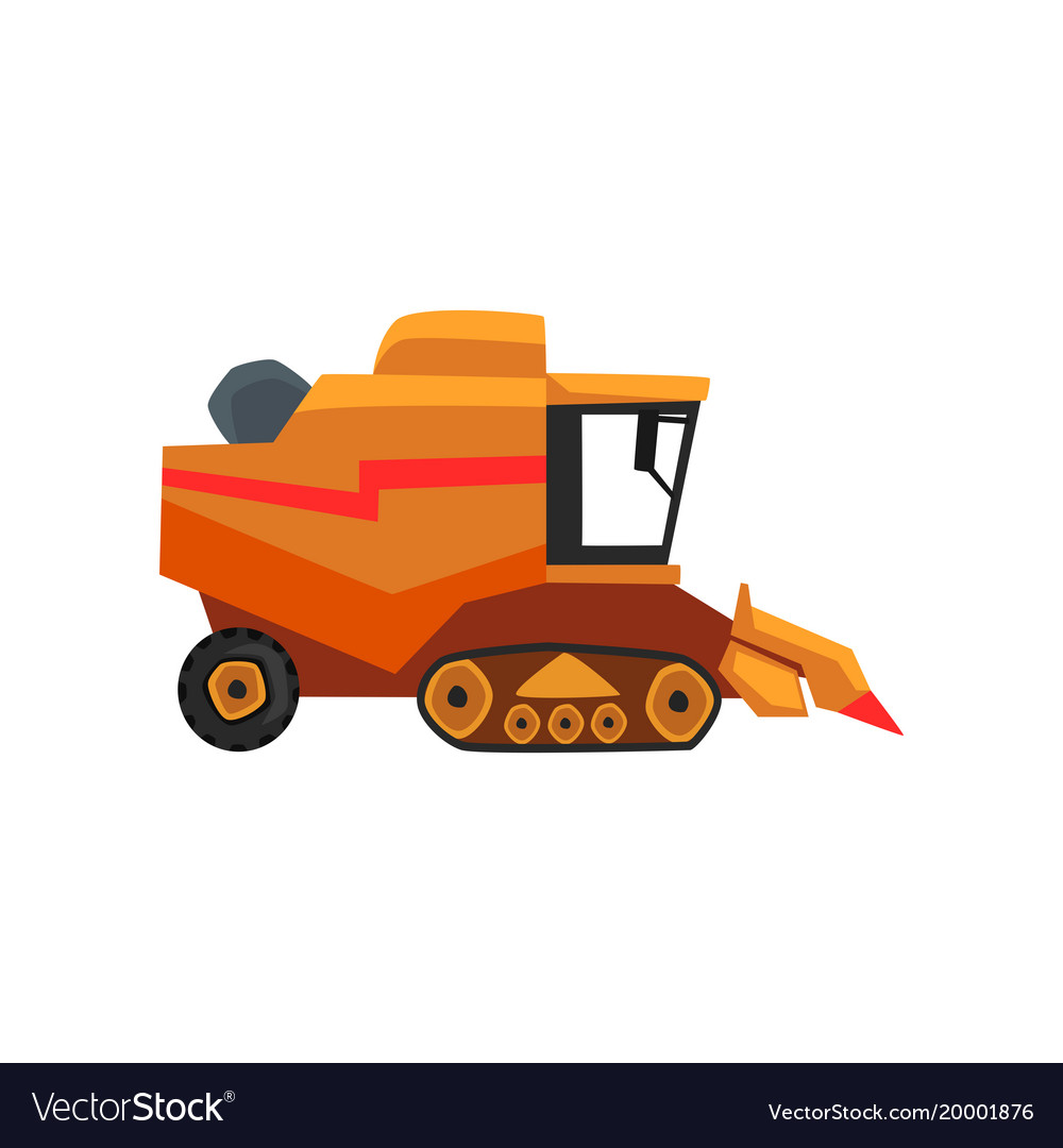 Agricultural harvester combine farm vehicle vector image