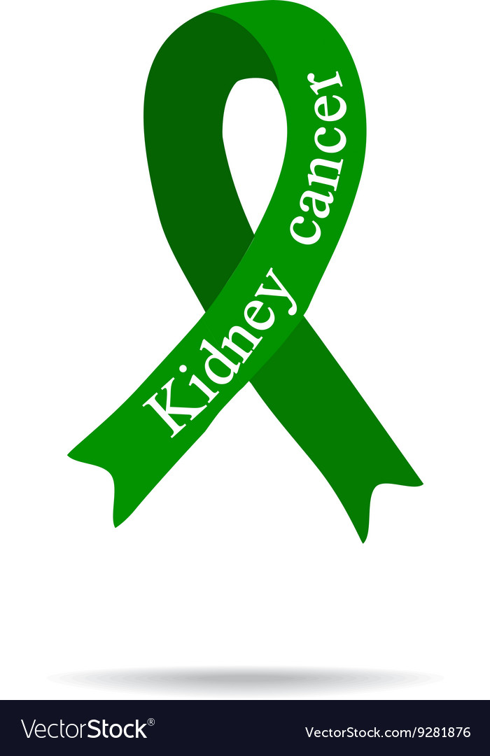 Cancer Ribbon Kidney cancer International Day of vector image