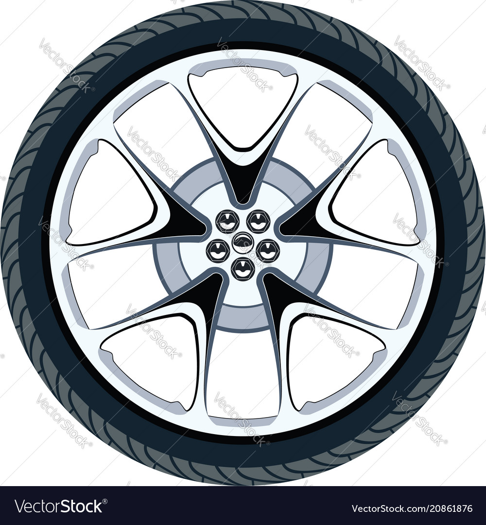 Car tire and alloy wheel