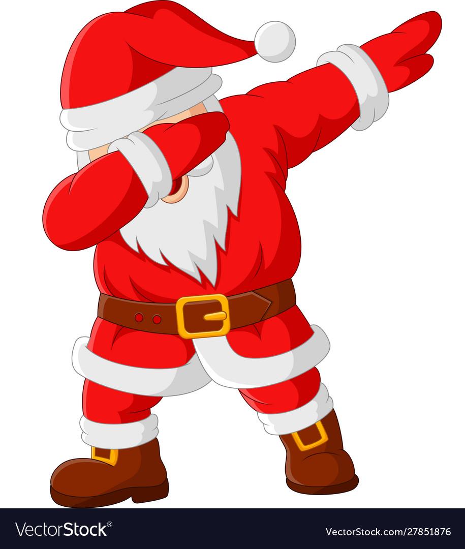 Cartoon Happy Dancing Santa Claus Royalty Free Vector Image