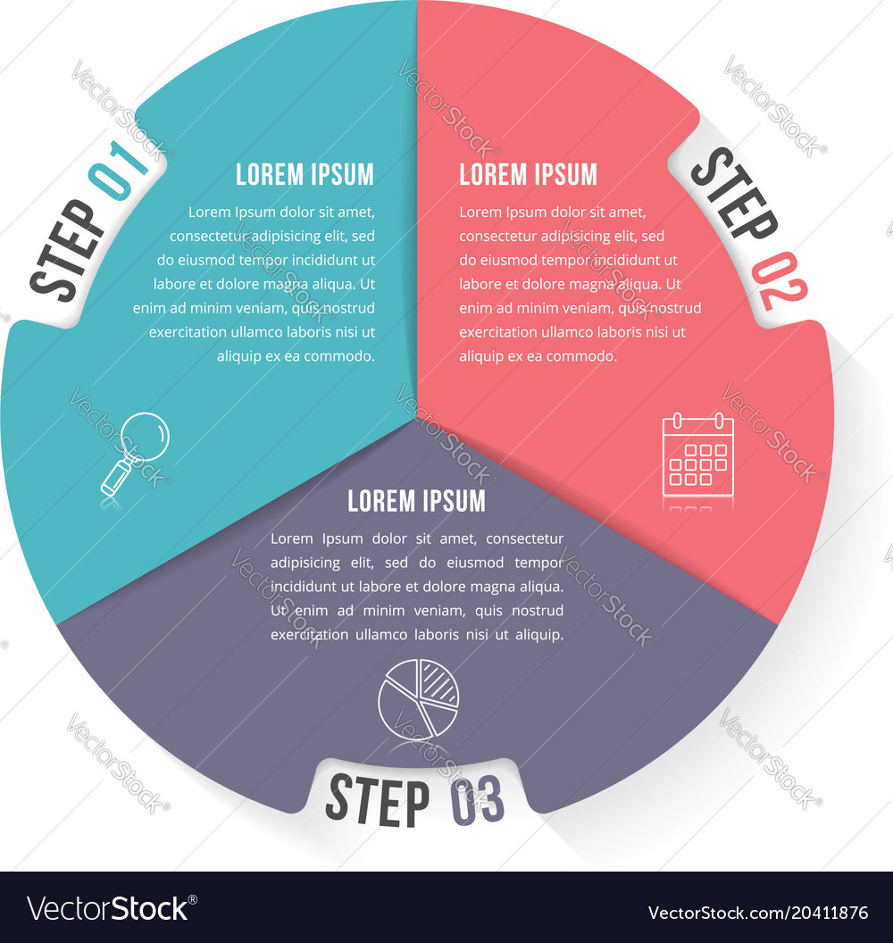 Circle infographic template with four elements vector image