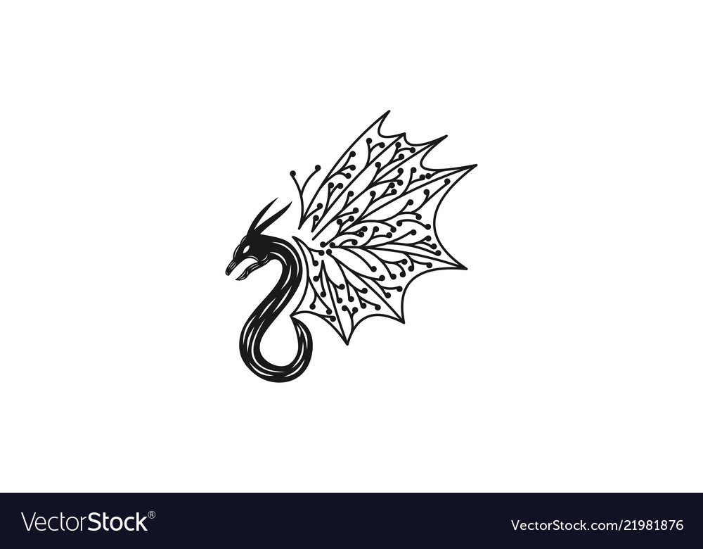Flying dragon minimalist logo designs inspiration