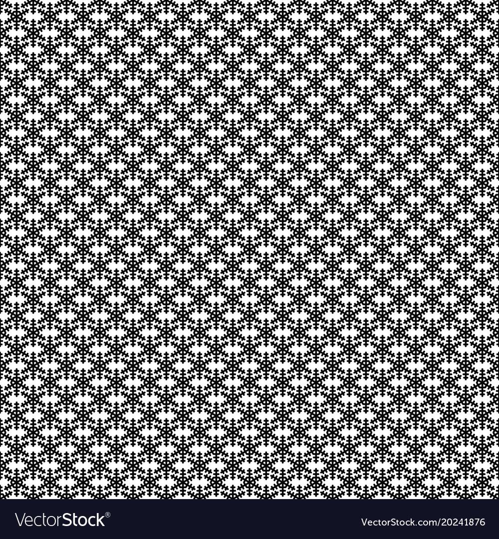 Monochrome simple stylized snowflake pattern