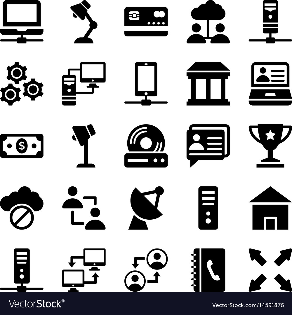 Network and communication icons 9