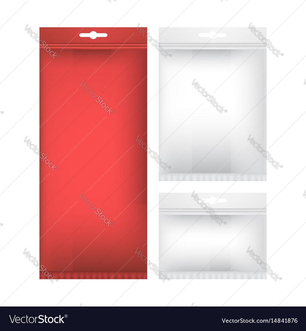 Package mock up set vector image