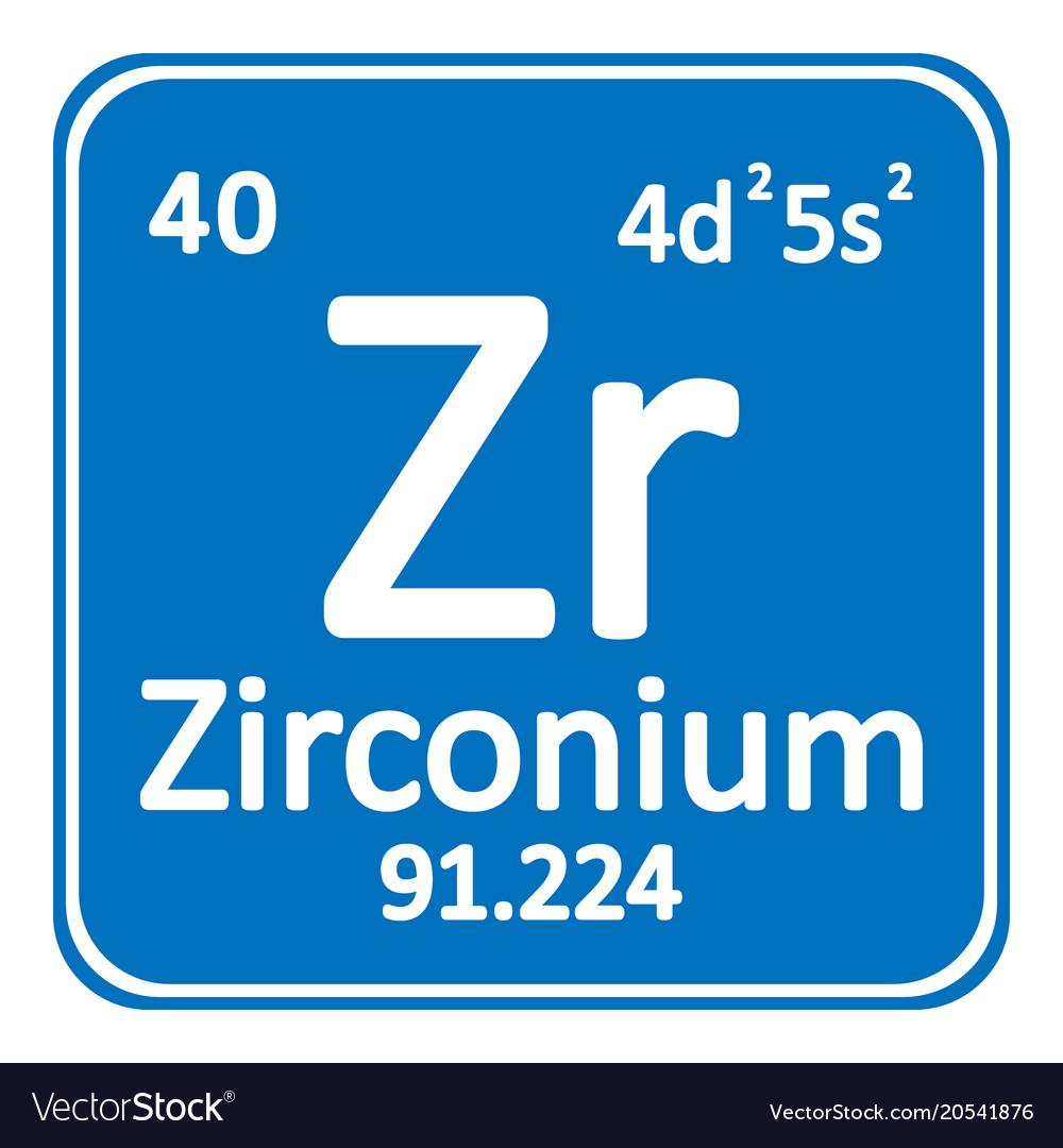 Periodic table element zirconium icon royalty free vector periodic table element zirconium icon vector image urtaz Images