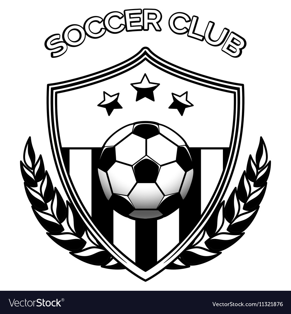Soccer club logo on white vector image
